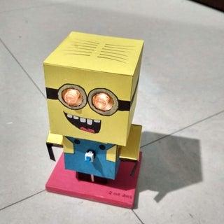 Minion Cubecraft Toy  (A Flashlight Toy)