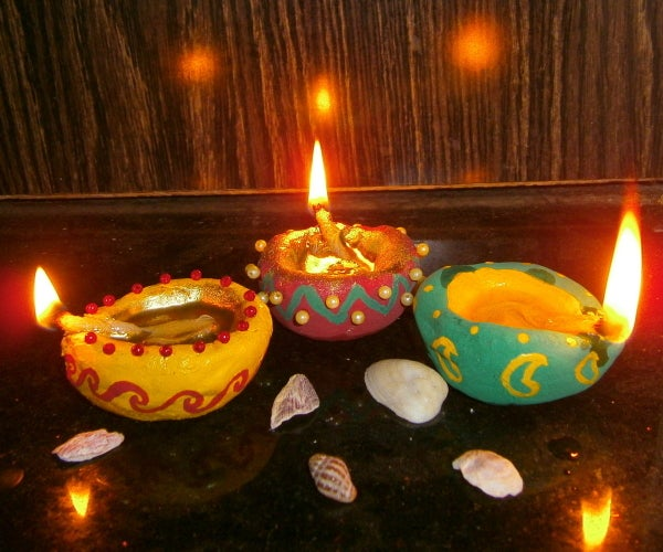 Handmade Decorative Diya (Oil Lamps)
