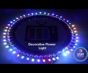 Decorative Flower RGB LED Lights   DIY