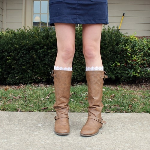 Quick and Easy Lace Peek-a-Boot Socks