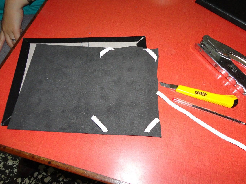 Gluing the Elastic and EVA (foamy)