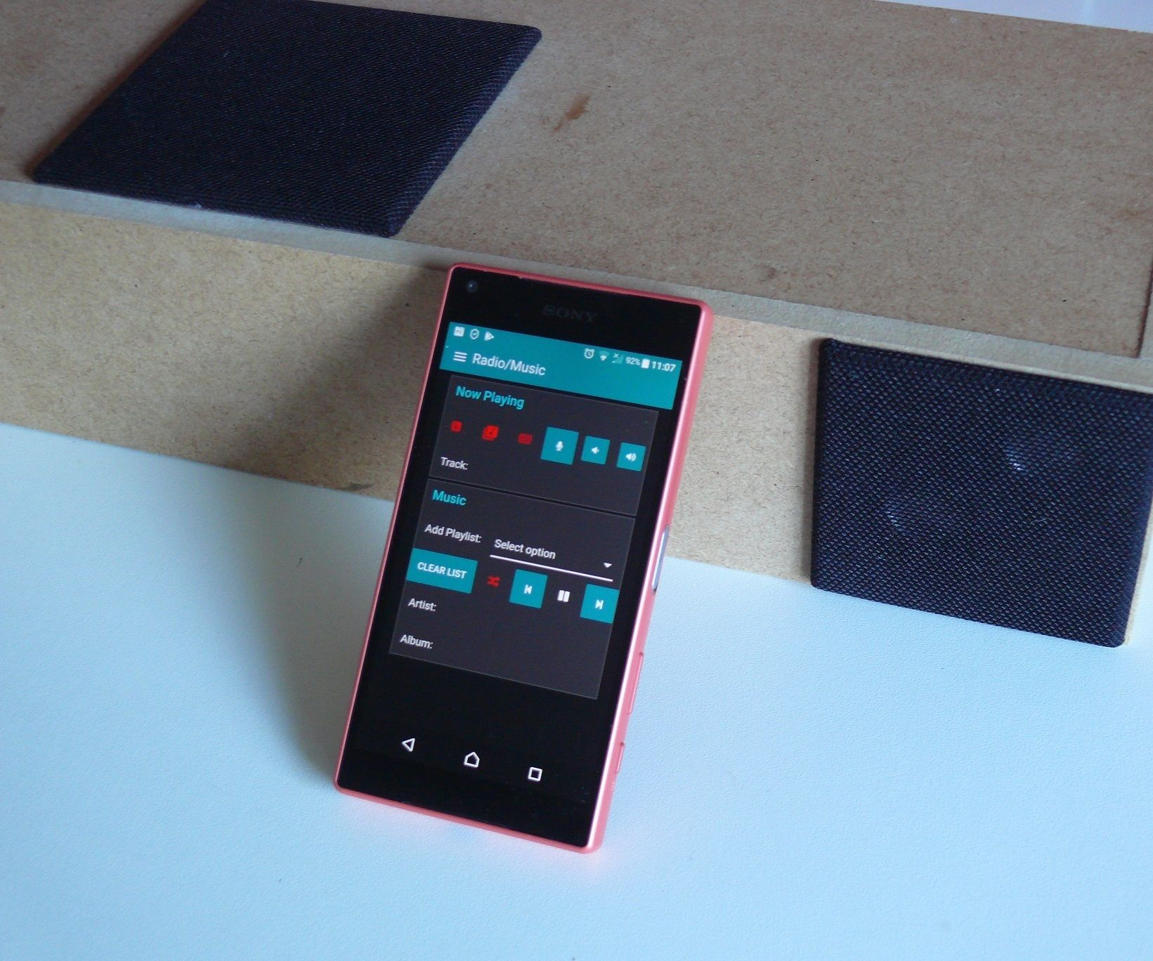 Internet Radio, Radio Recorder, and MP3 Player With Smartphone Control.