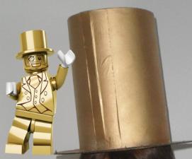 Mr Gold Hat Cardboard