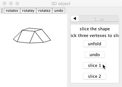 Slicing a Shape