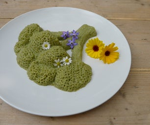 Sculpture From Leftover Broccoli Soup
