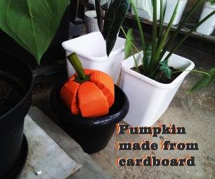 Pumpkin Made From Cardboard
