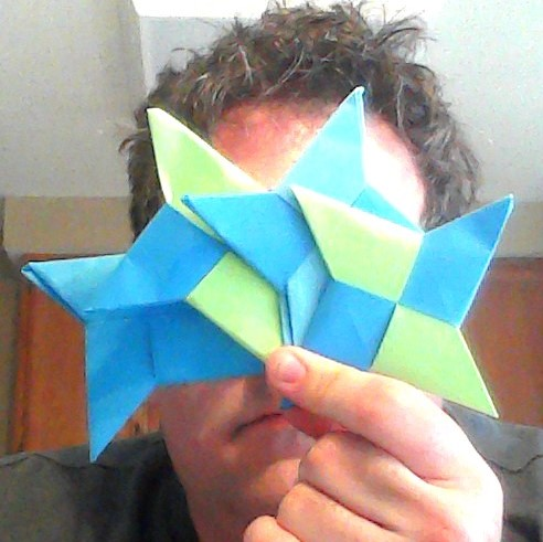 Super Easy Origami Paper Ninja Star!