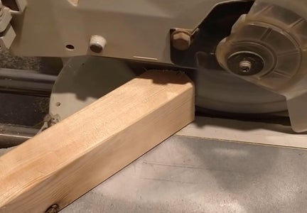 Woodworking - Crane's Tower Base - Angled Edges Cut