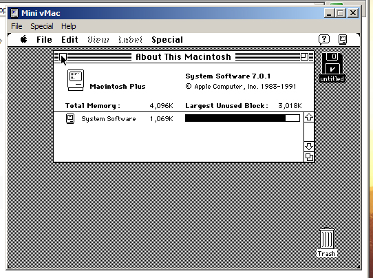 Mac OS 7 on Windows