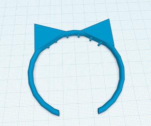 如何制作带有tinkercad的猫头头带