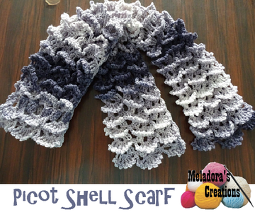 Picot Shell Stitch Scarf - Free Pattern and Video Tutorials