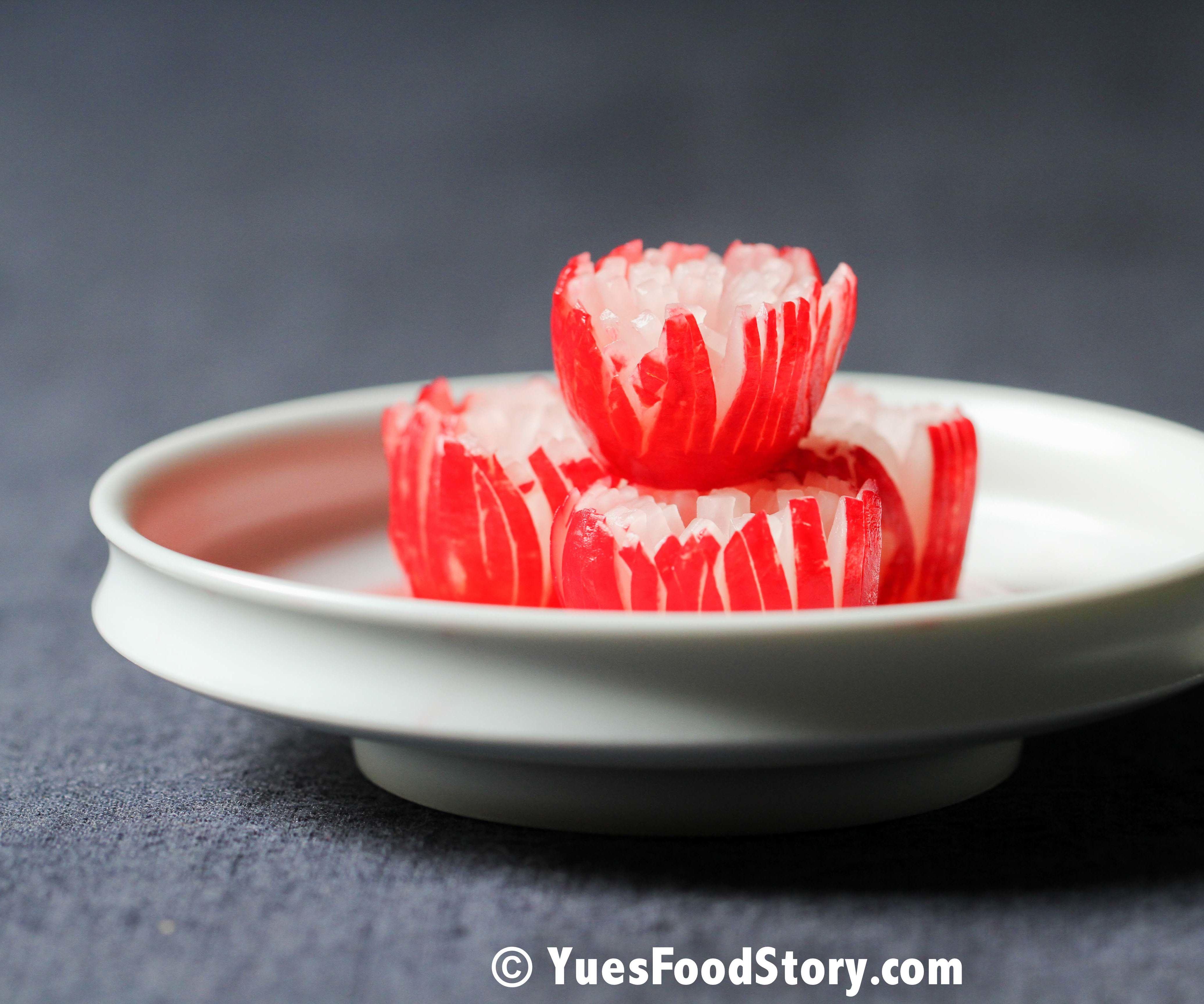 Chinese Pickled Cherry Radish Flower