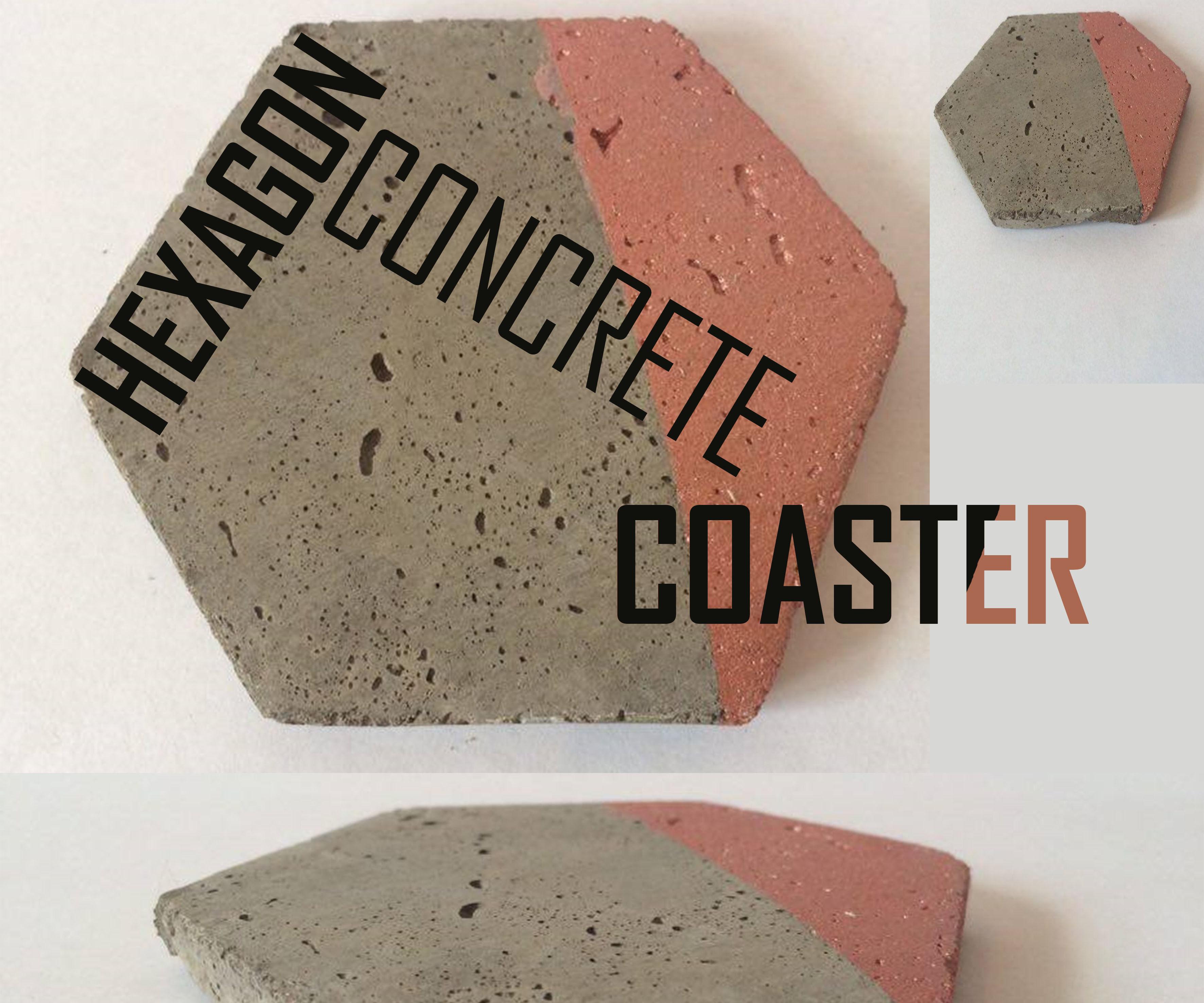 DIY Concrete Hegagon Coaster