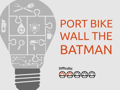 Port Bike Wall PVC Batman (Batman Vs Superman Logo)