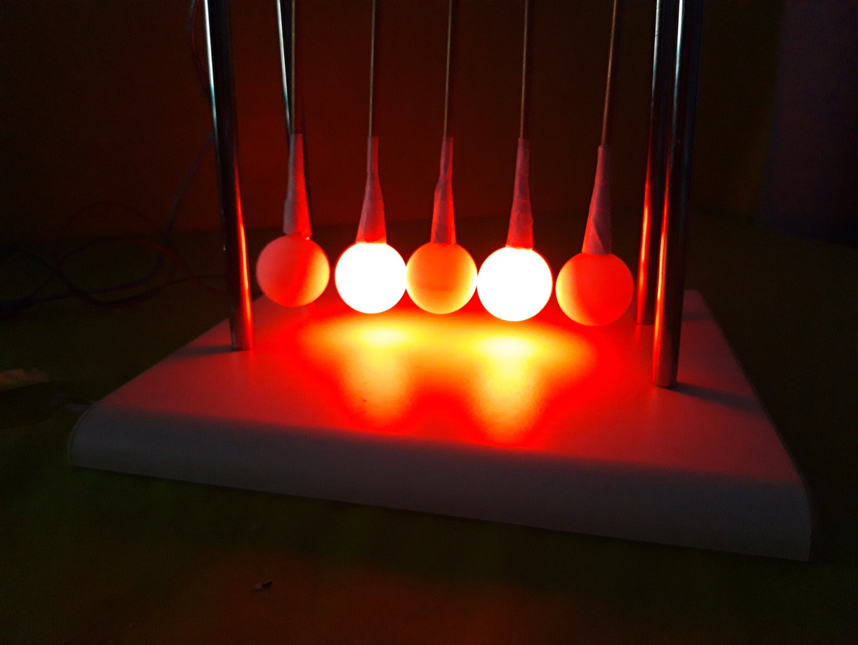RGB LED Newton's Cradle