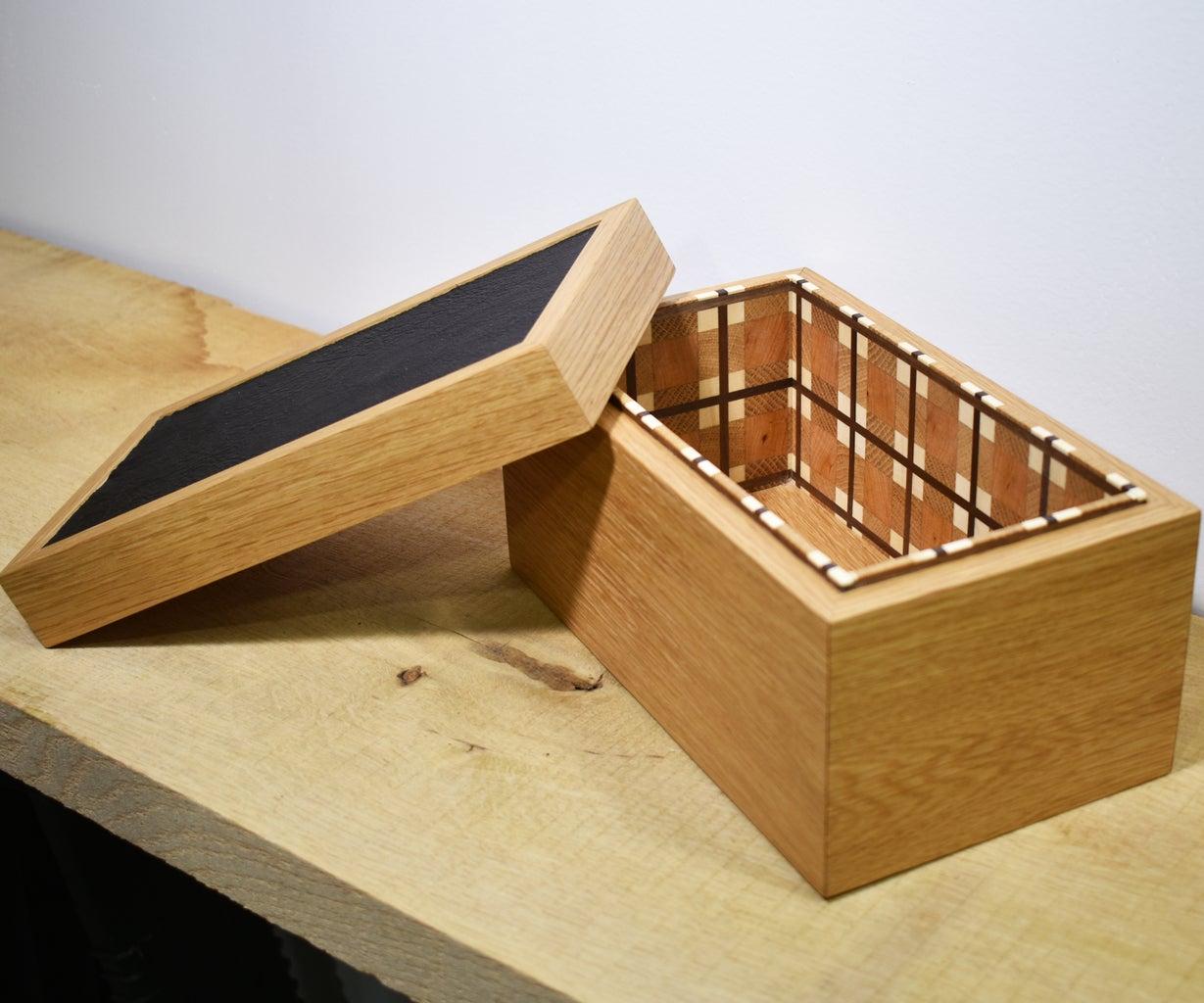 Wood Plaid Keepsake Box