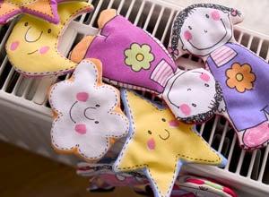 Fabric Fridge Magnets for Children