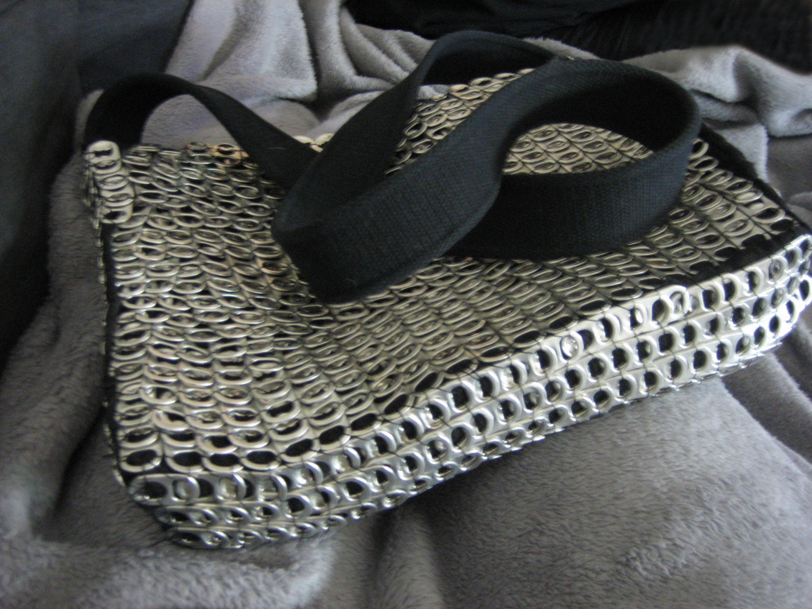 Soda Tab Chainmail Laptop Bag
