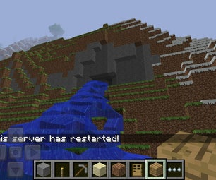 How to Shape a Water Fall in Minecraft
