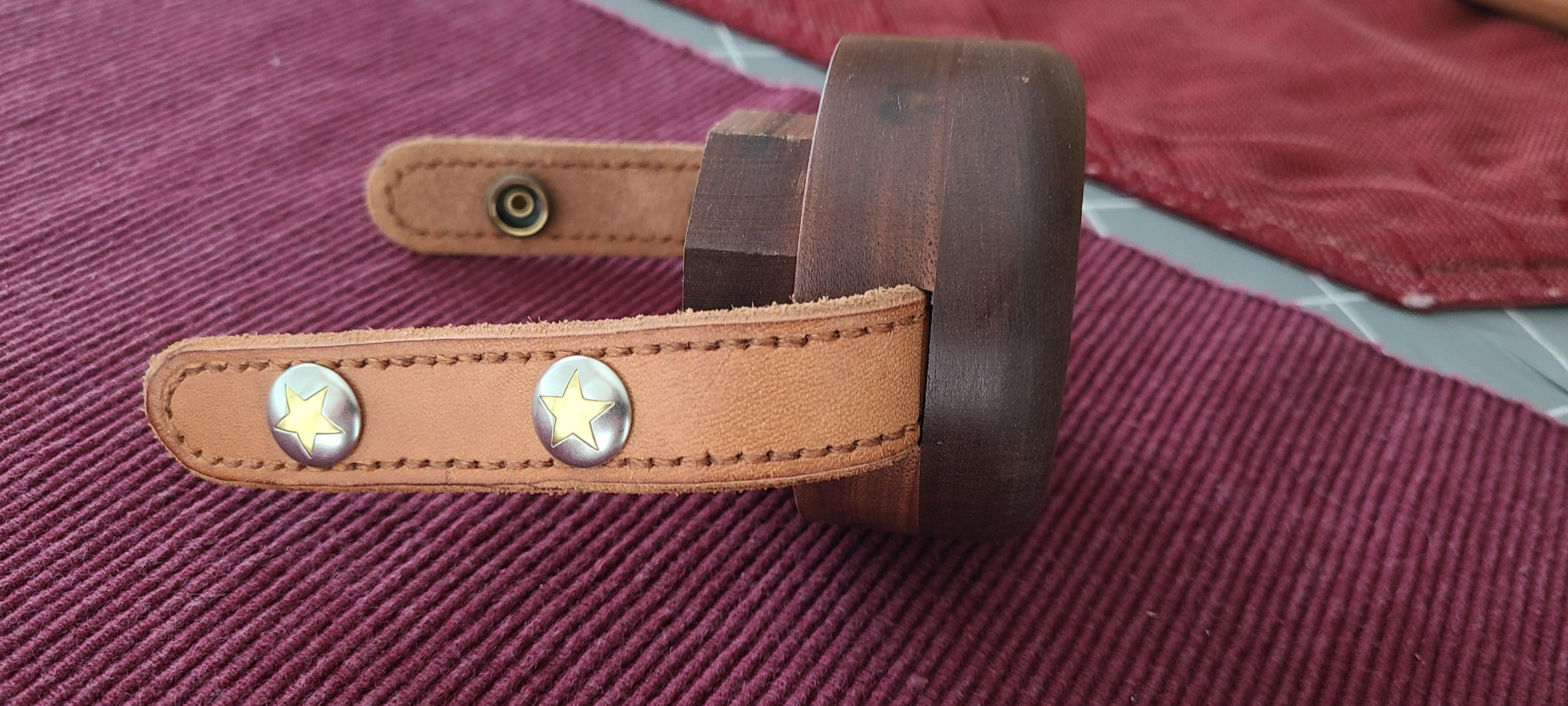 Adding Snaps to the Strap and Installing It in the Top Cap