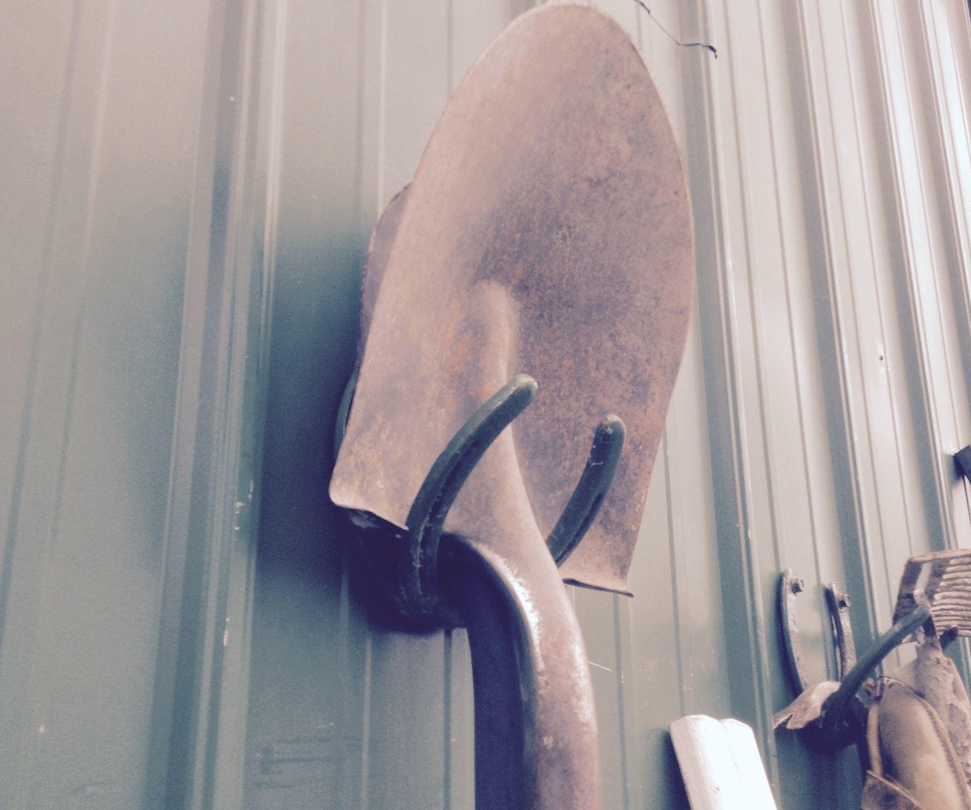 Horseshoe Shovel Holder