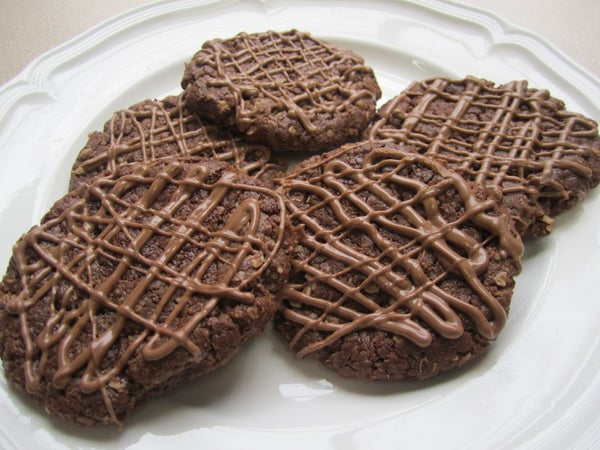 Chocolate Anzac Cookies