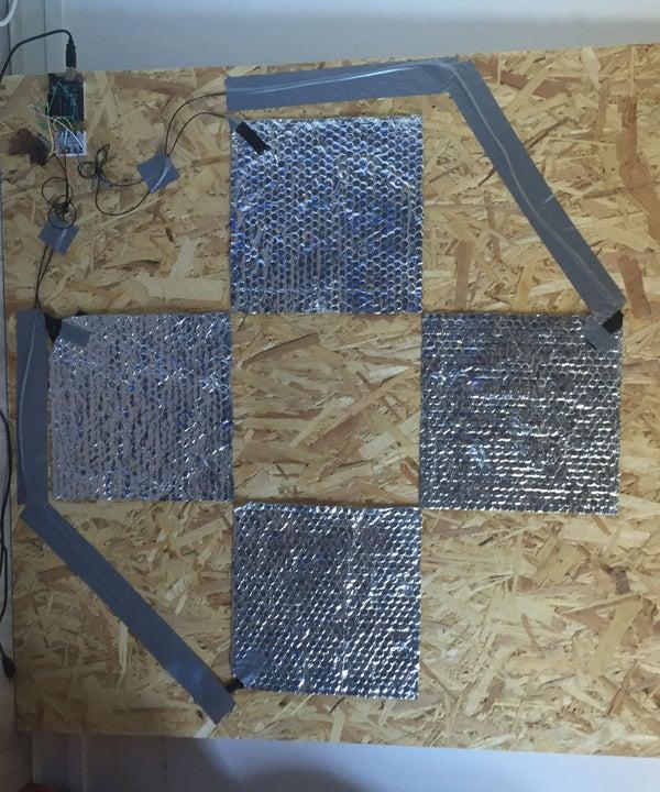 DIY Arduino Capacitive DDR Pad