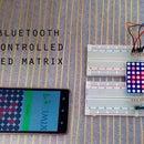 Bluetooth dot matrix display with Arduino