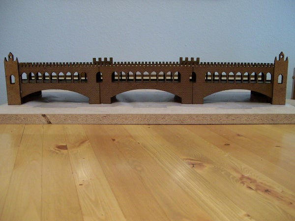 Laser Cut Gingerbread Bridge