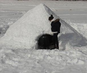 让我们做一个雪堡!- 建立一个Quinzhee