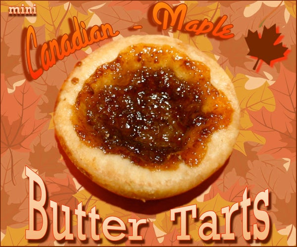 Mini Canadian Maple Butter Tarts