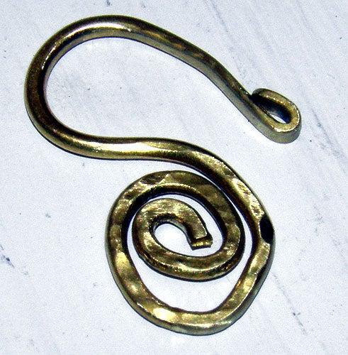 Hammered Wire Spiral Clasp
