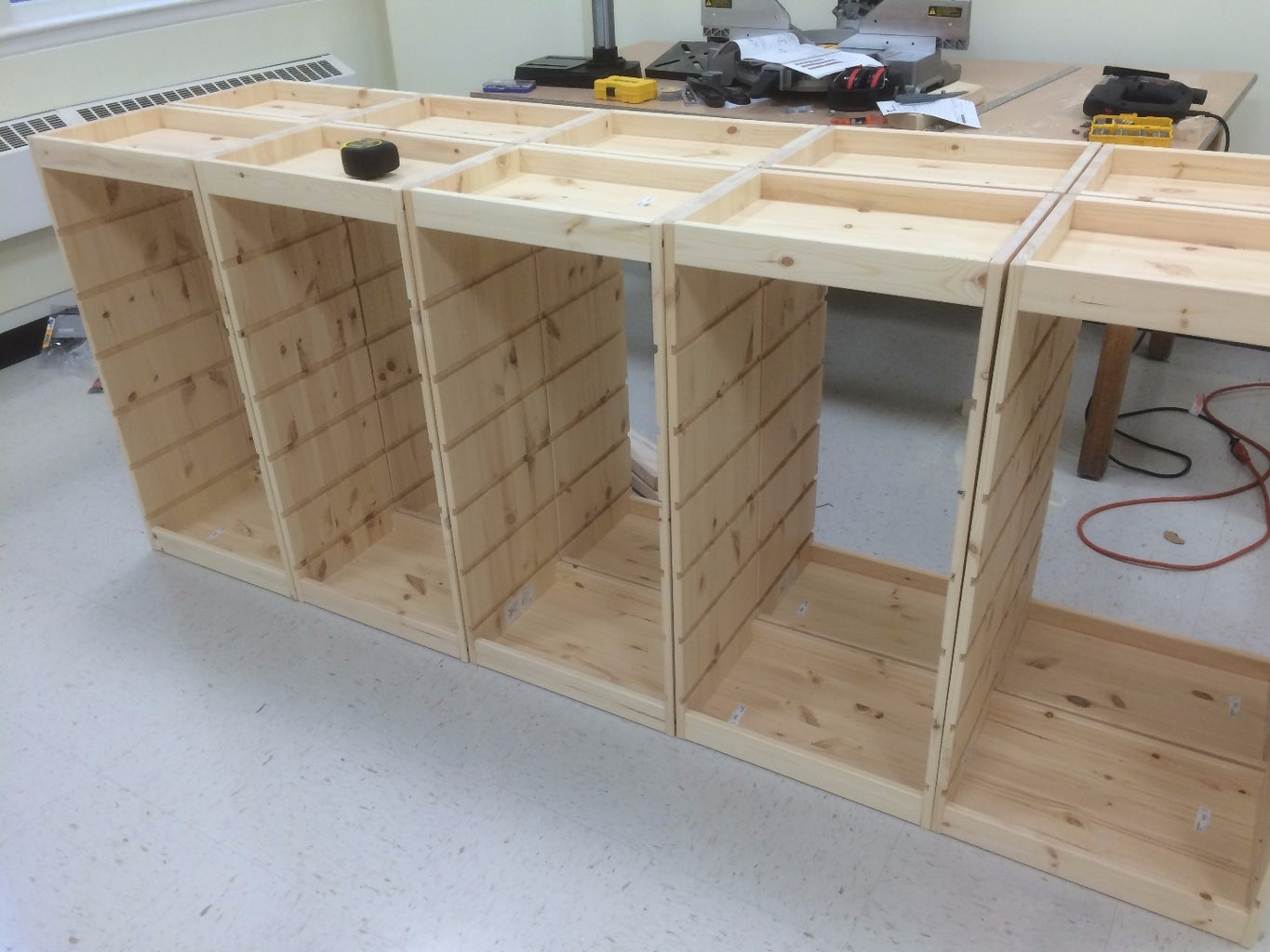 Build Trofast Cabinets and Combine