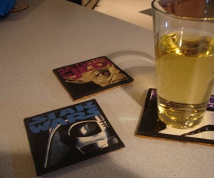 Movie Coasters From Old VHS Tape Jackets