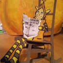 Easy Art.... Pumpkin toy house only recycled materials