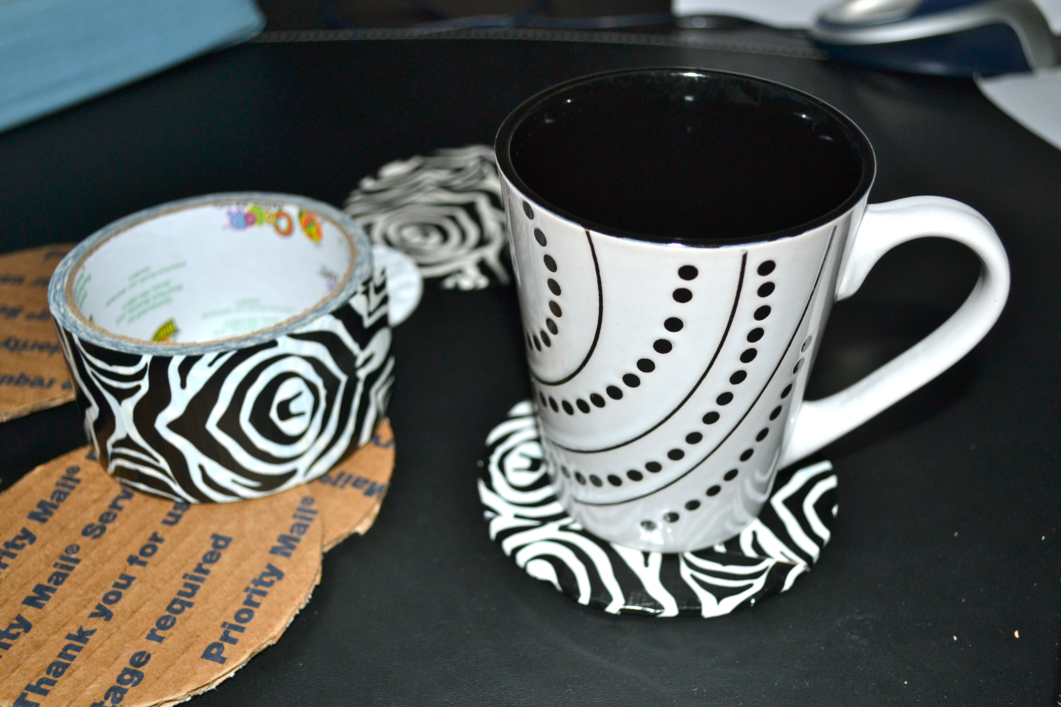 DIY coasters from cardboard