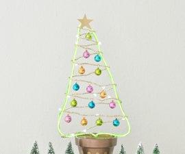 DIY Flower Pot Christmas Tree