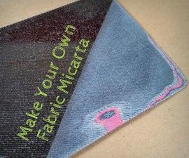 Make Your Own Fabric Micarta!