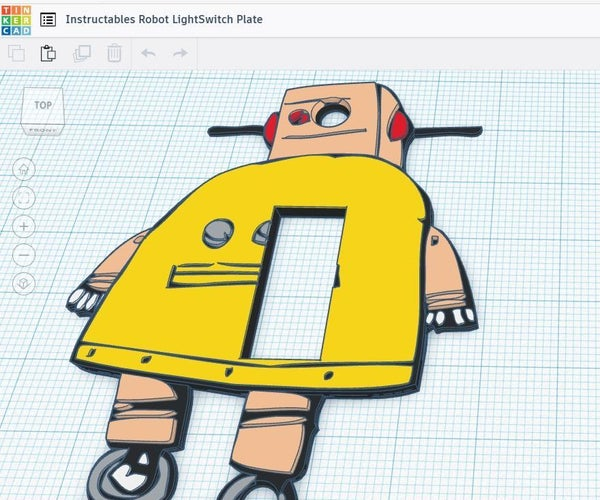 Robot Lightswitch Plate