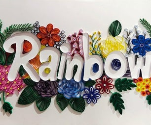 Quilling Typography by Tanisha Chatterjee