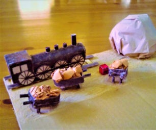 Cardboard Wild West Railroad Model