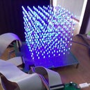 8x8x8 LED CUBE with Arduino+PCB board
