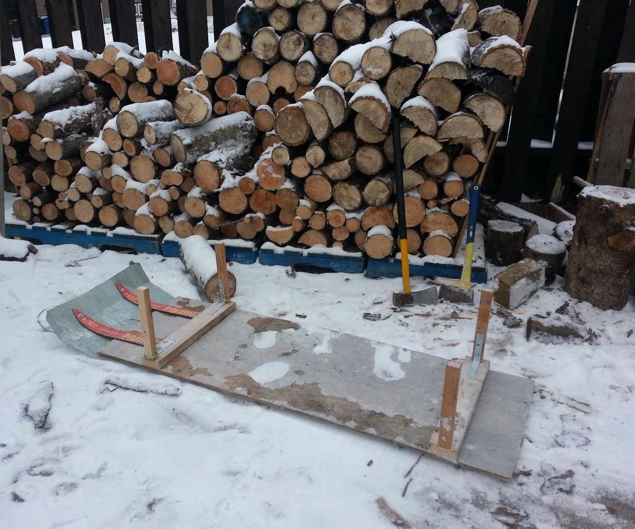 firewood sled