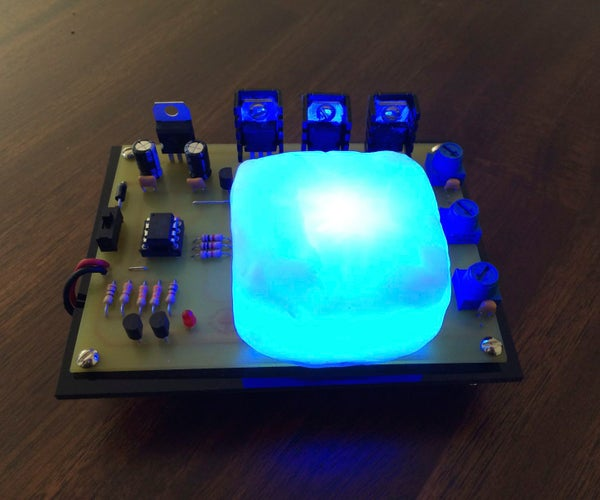Tiny Color Mixer - a Constant-current, 3W RGB LED With Low-battery Indicator and Polymorph Diffuser