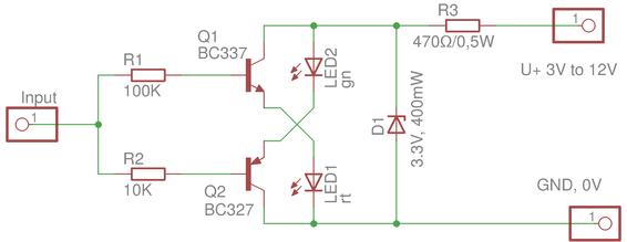 Improved Two Transistor Logic Probe