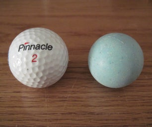How to Cut Off the Outer Shell of a Golf Ball