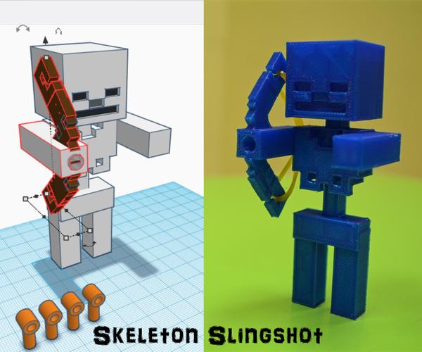 Minecraft and 3D Printing: Skeleton Slingshot!
