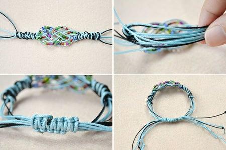 Finish the Sailor Knot Bracelets With Pony Beads