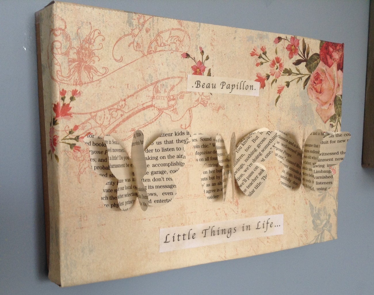 Vintage Butterfly Poster Box