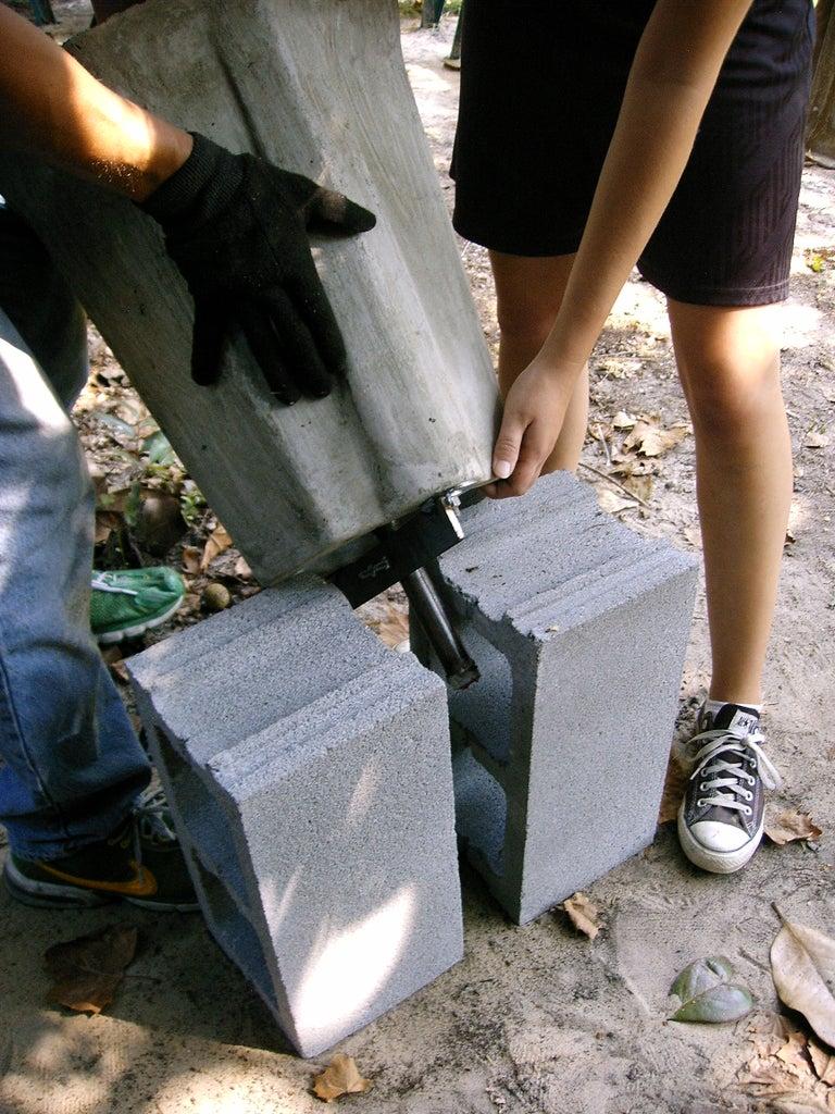 Turn Stator With Top Bracket Upside Down on Blocks